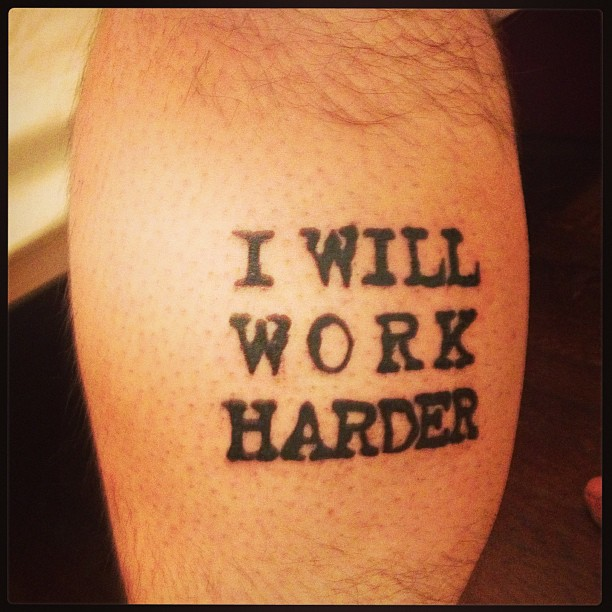"""This tattoo on my left calf was inspired by many voices, but one of the most insistent was Lorde's asking me, """"Am I doing my work?"""""""