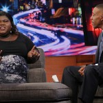 Gabourey Sidibe and Arsenio Hall