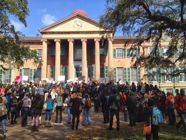 Protests at the College of Charleston.  From Professor Alison Piepmeier's blog: http://alisonpiepmeier.blogspot.com/.