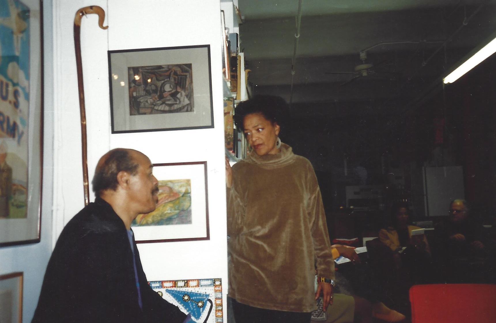 Clyde Taylor & Toni Cade Bambara Hatch-Billops Collection 1994 copyright Michael Simmons