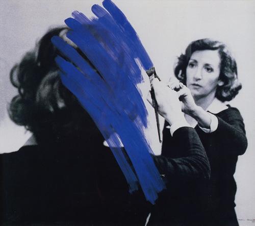 """Helena Almeida. """"Pinturas Habitada (Inhabited Painting)."""" 1975."""